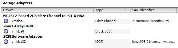iSCSI vmhba